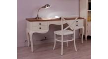 Rosalind Çalışma Masası Beyaz-Ceviz
