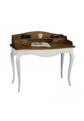 Rosalind Raflı Çalışma Masası Beyaz-Ceviz