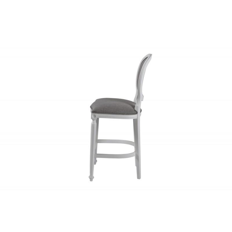 Moana Bar Sandalyesi Beyaz - Gri