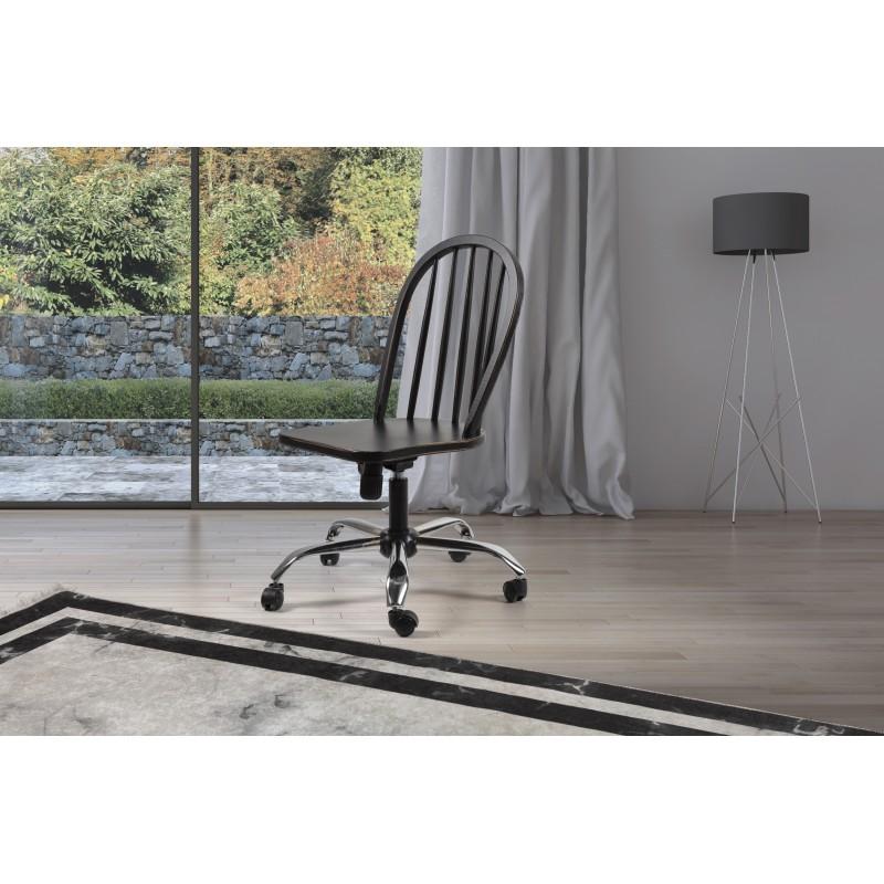 Neige Siyah Eskitilmiş Çalışma Sandalyesi