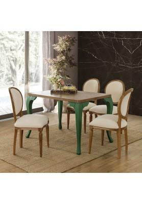 Fresco Masa Takımı - Ceviz / Yeşil