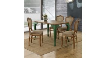Lavarato Masa Takımı - Ceviz / Yeşil