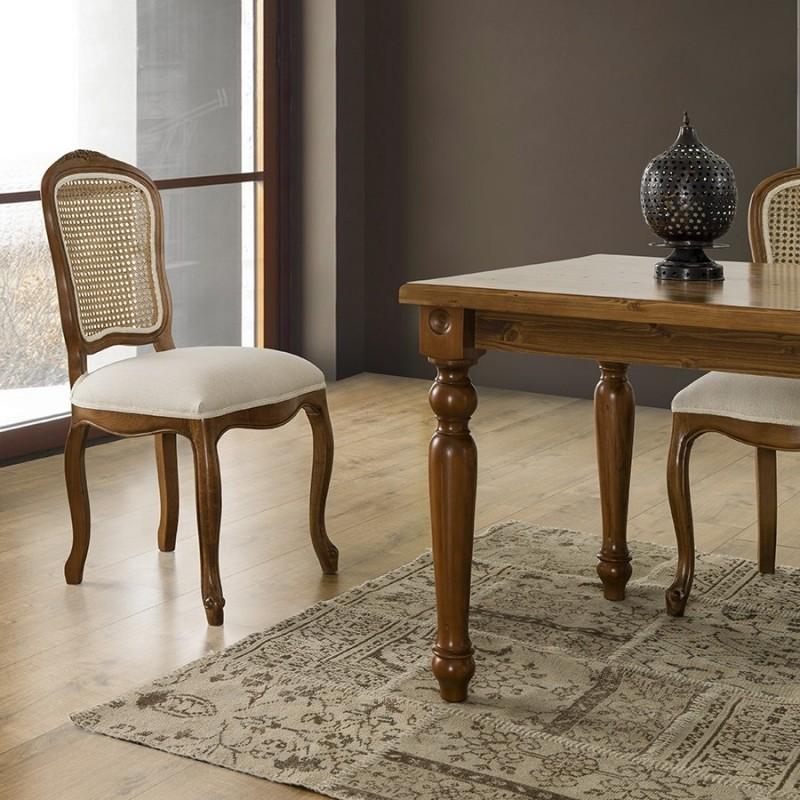 Stile Masa Takımı - Ceviz / Krem